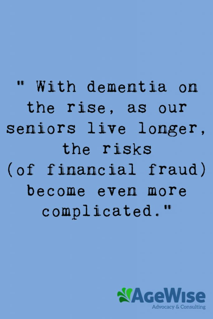 Agewise Financial Fraud quote